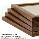 Craig Frames 23247616 24 by 36-Inch Picture Frame 4-Piece Set, Smooth Finish, 1-Inch Wide, Walnut Brown