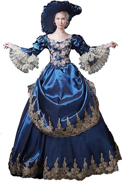 Amazon.com: Vestido de bola rococo barroco de estilo barroco ...
