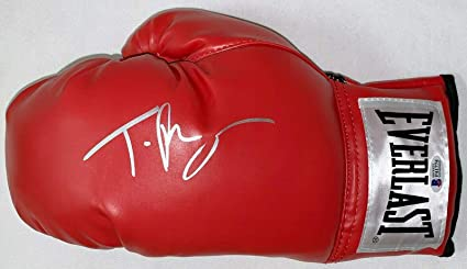 Tyson Fury Signed Red Boxing Glove