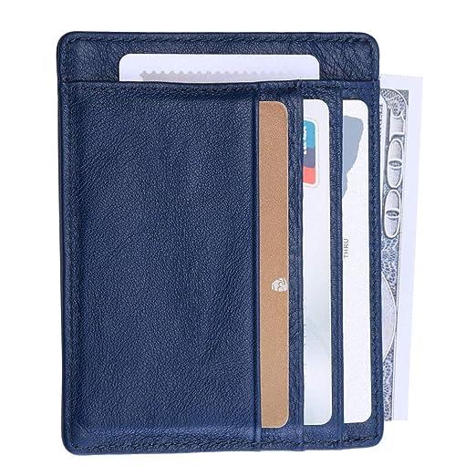 3dcad17881aa O-LET Credit Card Holder Women Men RFID Leather Wallet Minimalist Slim Card  Case