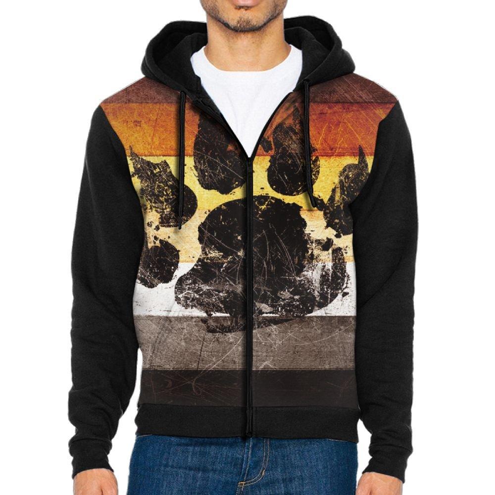 Men's Bear Gay Flag Casual Pockets Sweatshirt Zipper Hoodie Crew Hooded Shirts Athletic Sportwear