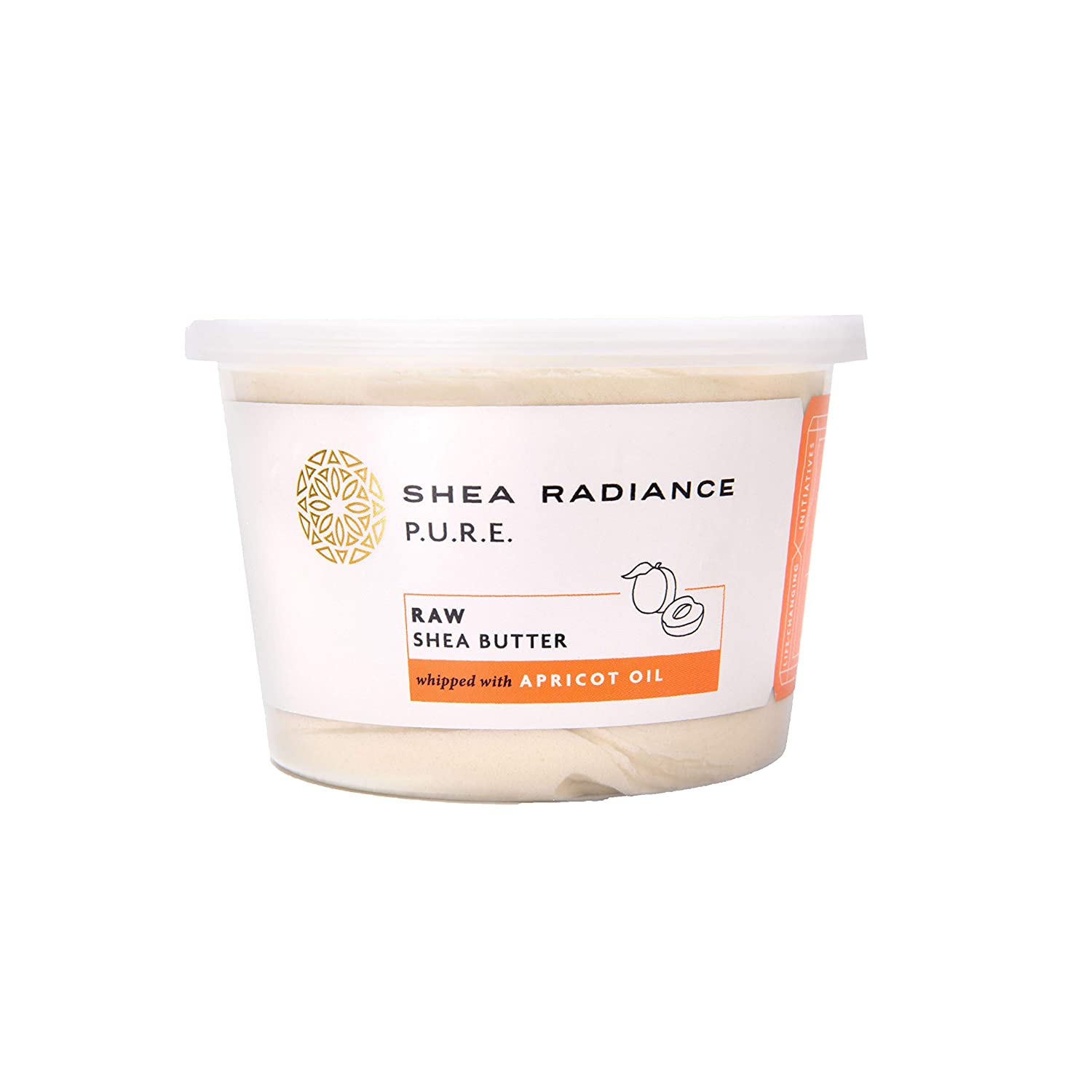 Shea Radiance Unrefined Organic Handcrafted Shea Butter - Face, Body, Hand, Skin & Hair Moisturizer - For all Skin Types | Apricot Oil (9oz)