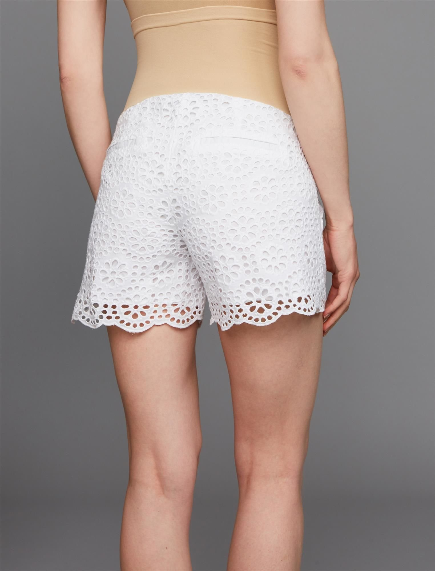 A Pea in the Pod Secret Fit Belly Lace Maternity Shorts by A Pea in the Pod (Image #5)