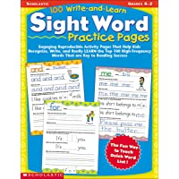 100 Write-And-Learn Sight Word Practice Pages: Engaging Reproducible Activity Pages That Help Kids Recognize, Write, and…