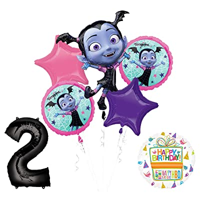 Mayflower Products Vampirina 2nd Birthday Balloon Bouquet Decorations and Party Supplies: Toys & Games