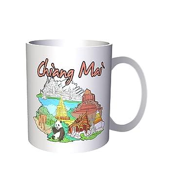 Chiang mai viajes tailandia tailandés vacaciones 330 ml taza uu99: Amazon.es: Hogar