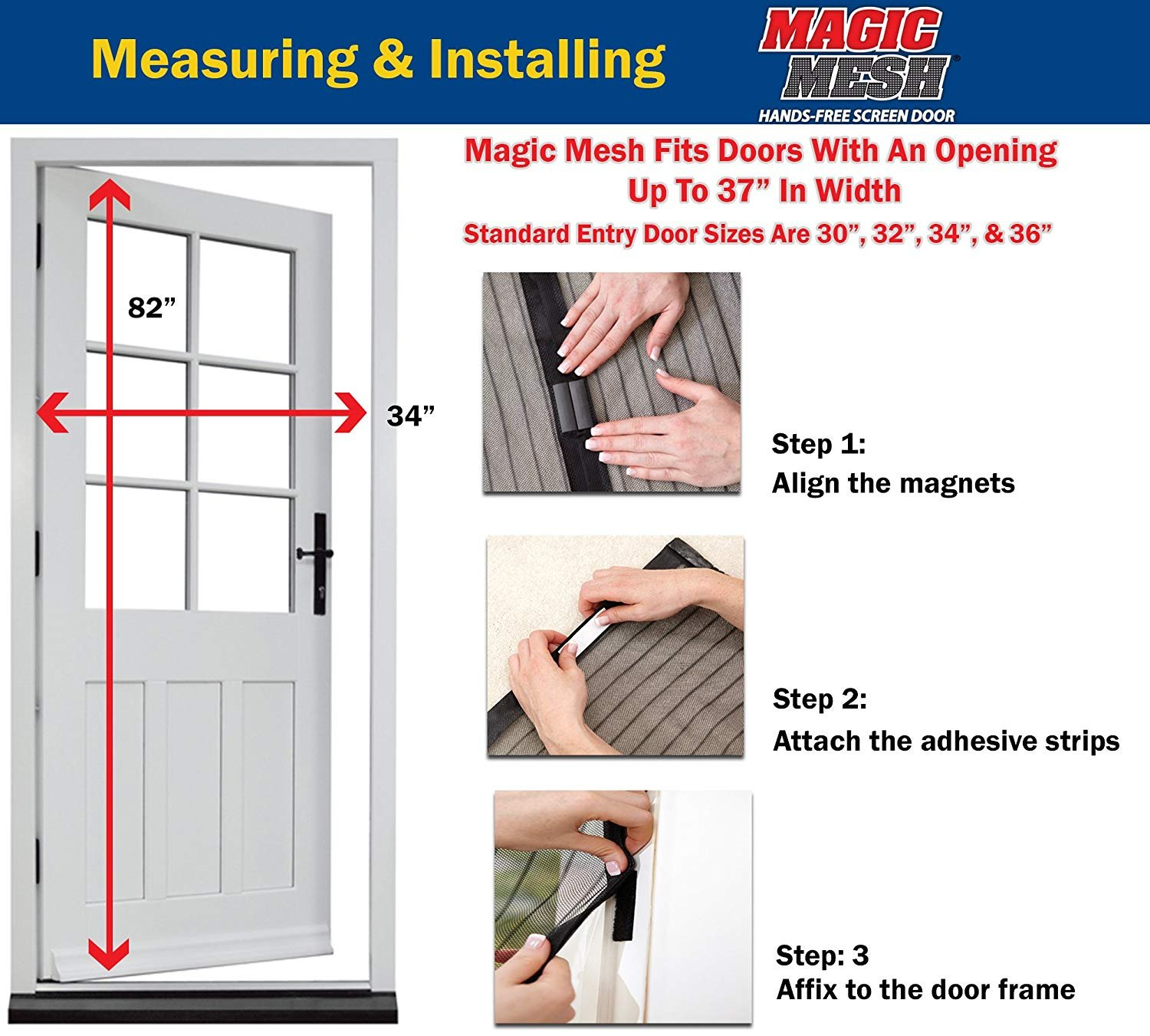 Amazon Hands Free Retractable Screen Door As Seen On Tv Home