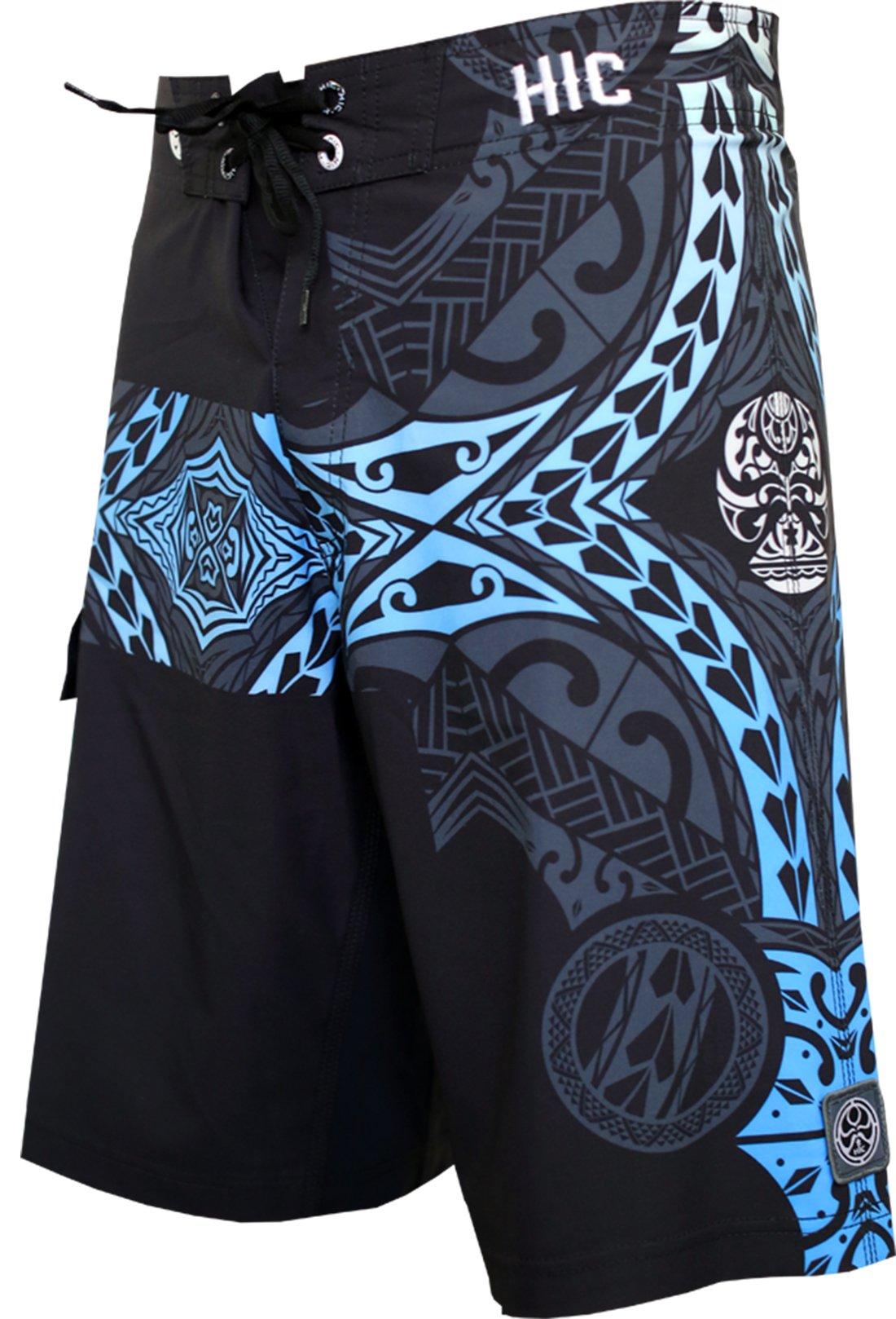 Hawaiian Island Creations (HIC) 21'' Kanaha 8 Way Stretch Boardshorts, Black Sky, 36 by Hawaiian Island Creations (HIC)