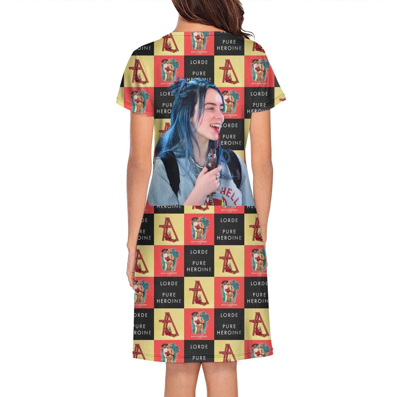 Heart Wolf Billie Eilish Art Womens Sleepwear Sleep Tee for Women Teen Girl
