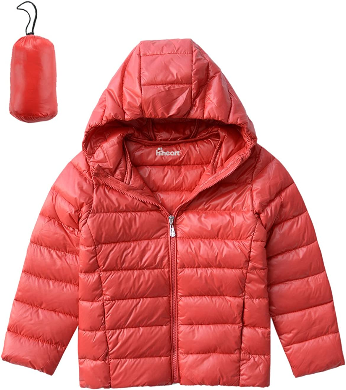 LPATTERN Toddler//Kids Boys Girls Light Puffer Jacket Winter Solid Down Coat Bright Padded Jacket Warm Thick Down Jacket with Unremovable Hood
