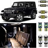 AUTOGINE 7 Piece CANBUS LED Interior Light Kit for Jeep Wrangler JK 2-Door 2007 2008 2009 2010 2011 2012 2013 2014 2015…