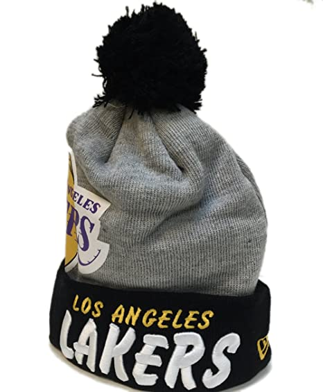 3d300753c98 Image Unavailable. Image not available for. Color  New Era Los Angeles  Lakers Solid Hit Pom Knit Cap 1013