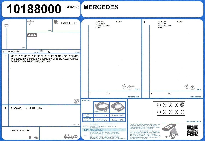Ajusa 81038600 Zylinderkopfschraubensatz