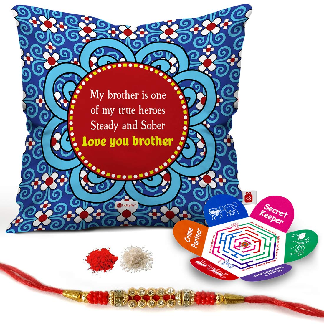 Buy Indi ts Raksha Bandhan Gifts for Brother Set of Love You Bro
