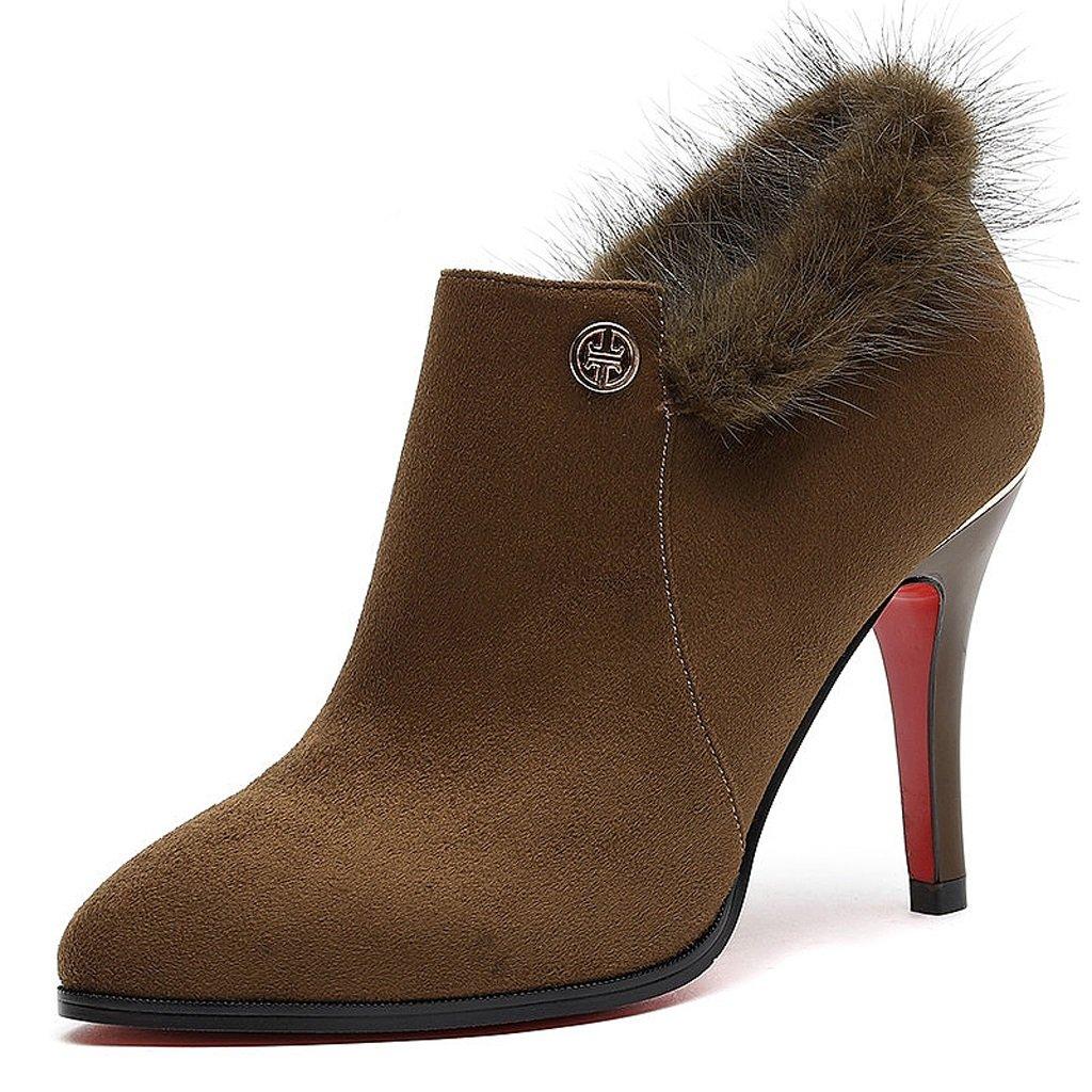 女性のハイヒールの春と秋の薄いセクションのアウトドアレジャーのトレンドセクシーな靴 B076D94PRH US:5.5\UK:4.5\EUR:36|ブラウン ぶらうん ブラウン ぶらうん US:5.5\UK:4.5\EUR:36