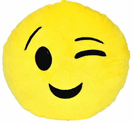 Buy Chords Wink Smiley Emoticon Stickable Plush Soft Toy Cushion ...