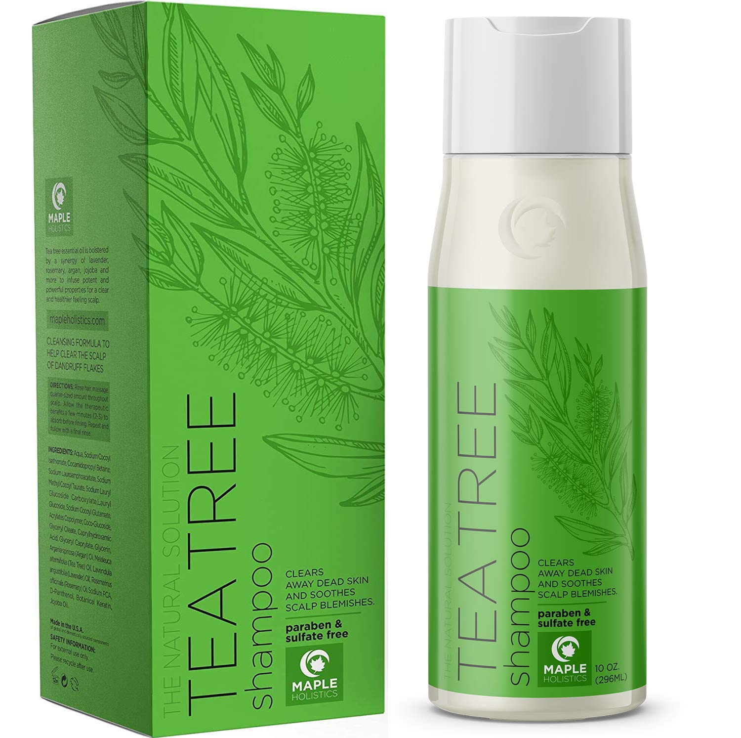 Pure Tea Tree Shampoo for Dandruff and Itchy Scalp