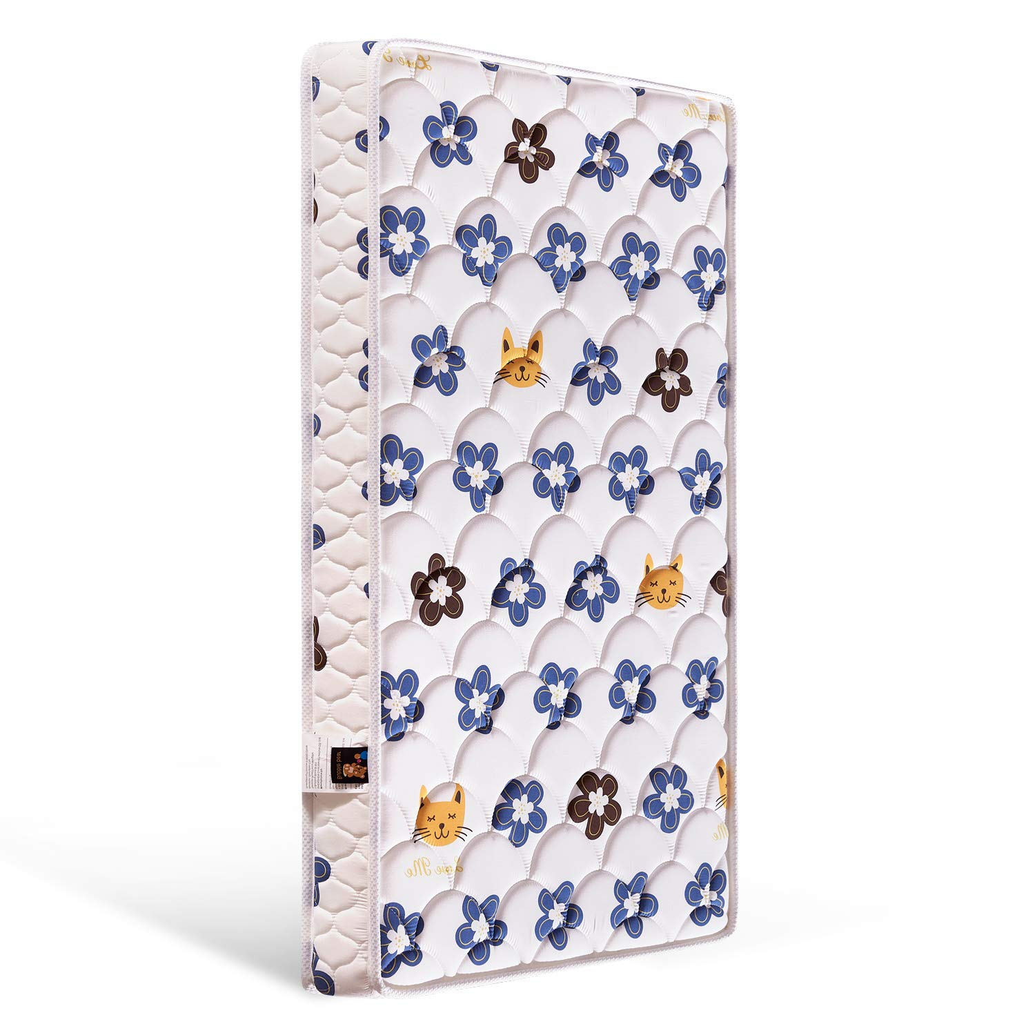 Bubble bear Premium Foam Hypoallergenic Infant Crib Mattress and Toddler Bed Mattress (Comfortable/Non-Toxic)   Fox and Flower   Size:52X27.6X5