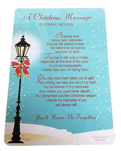 Un Mensaje de Navidad en memoria de una tarjeta de tumba ...