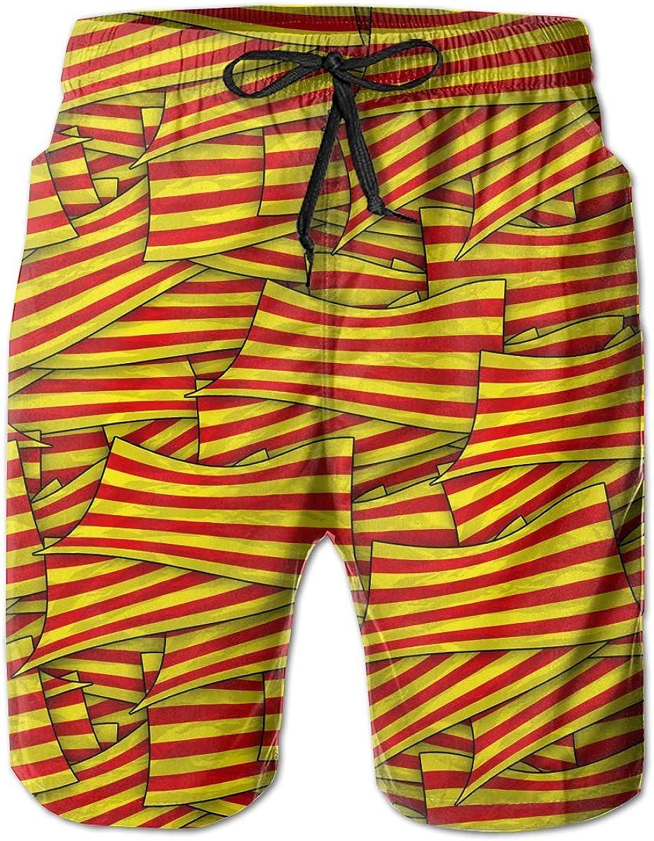 wwoman Pantalones Cortos de Nadar para Hombres Bandera de Cataluña Wave Collage Pantalones Cortos de Playa de Secado rápido: Amazon.es: Ropa y accesorios