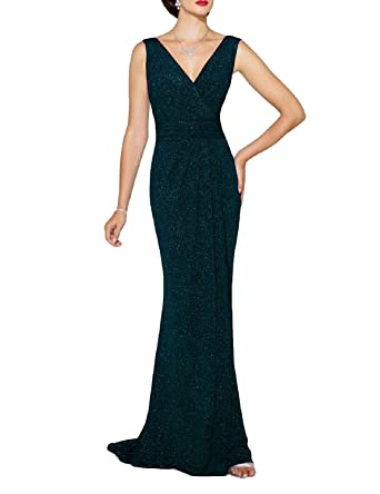 Lily Wedding Womens Double V Neck Bridesmaid Prom Dresses 2018 Long Mermaid Formal Evening Ball Gowns