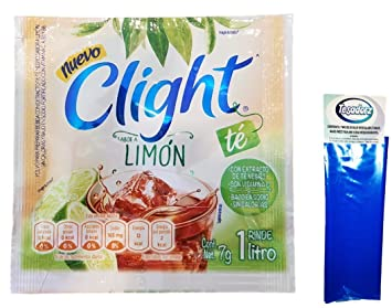 Clight Powdered Drink Mix (Pack of 18) (Te con Limon) with Tesadorz