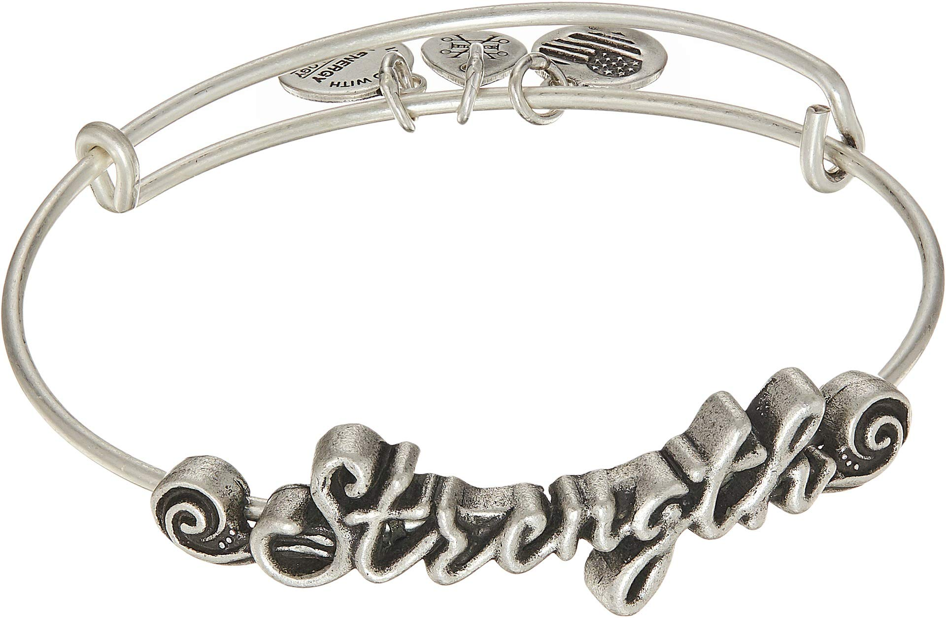 Alex and Ani Women's Spiritual Armor Strength Bangle Rafaelian Silver One Size