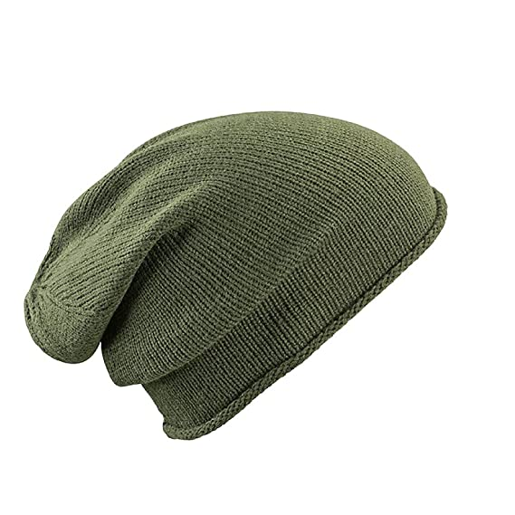 Myrtle Beach Casual extra-long beanie (dark-olive)  Amazon.co.uk ... dc319091b0a