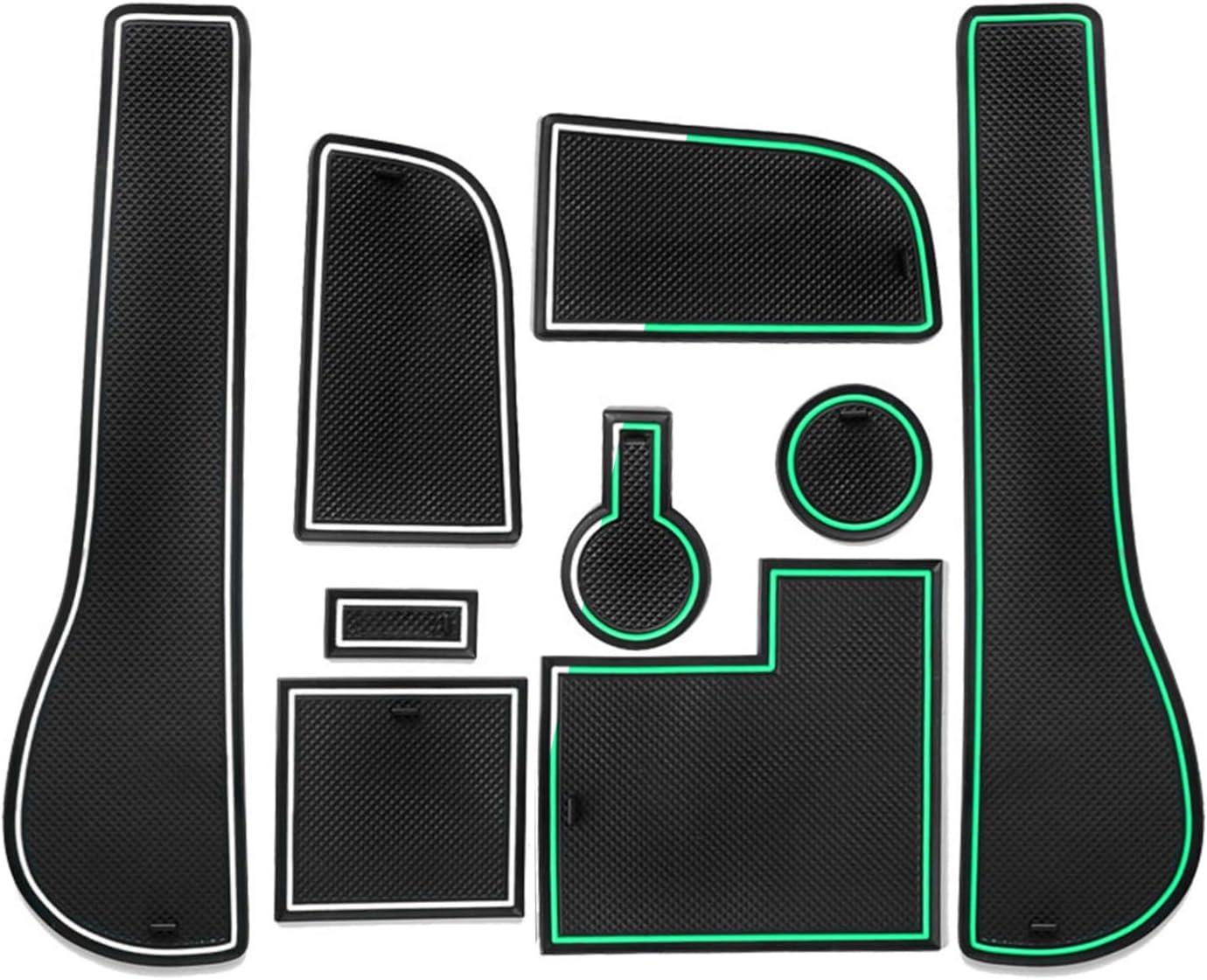 Cdefg Golf 7 R Gtd Gti Gte Auto Mittelkonsole Gummimatten Türschlitz Getränkehalter Rutschfest Anti Staub Becherhalter Gummi Matte Armlehne Aufbewahrung Antirutschmatte Innenraum Zubehör Weiß Auto