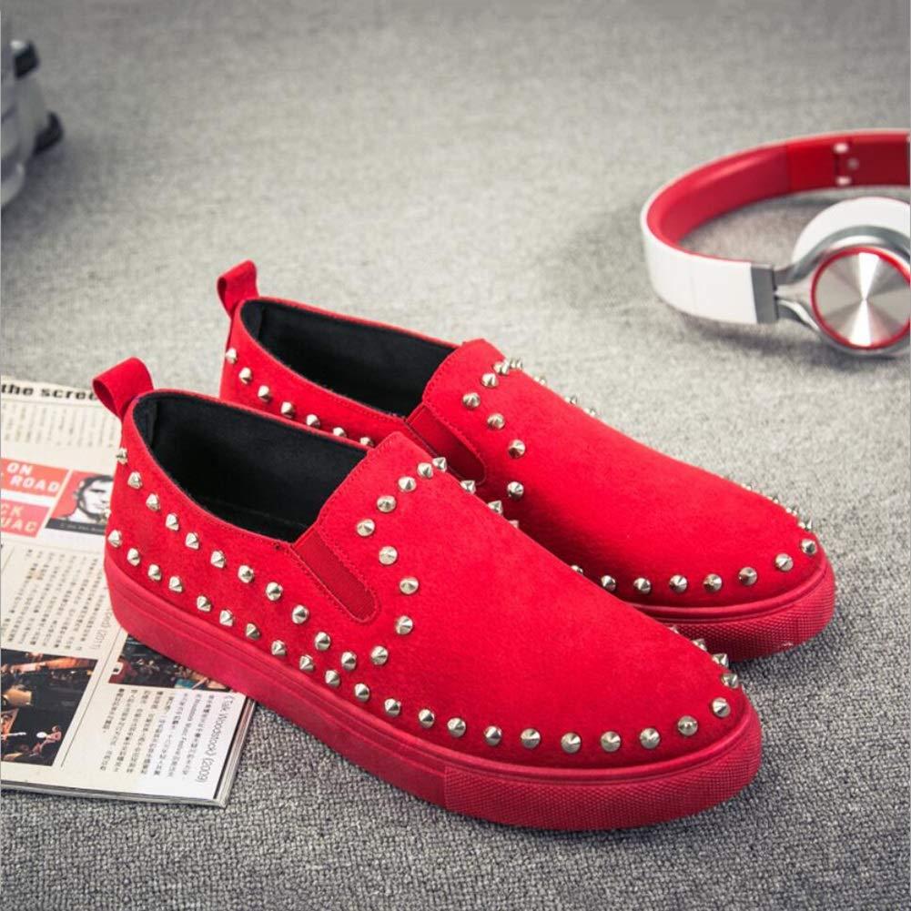 XUE Zapatos/Mocasines y Slip-Ons para Hombres Zapatos de conducción/Zapatos de Plataforma/Zapatos con Tachuelas Brillantes/Personalidad 43|Un