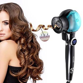 acevivi hc57 automático rizador Curl Locke eléctrica con sistema de calefacción de cerámica y pantalla LED Digital, Color negro (Azul): Amazon.es: Belleza