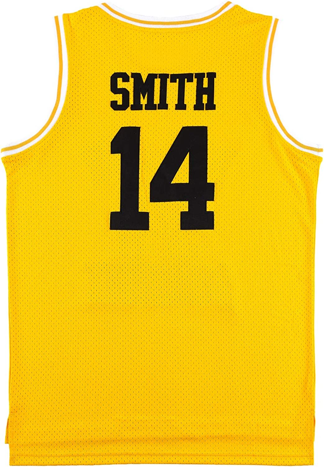 OKnown Mens Jerseys #14 Basketball Jersey Green/Yellow/Black