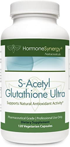 S-Acetyl Glutathione Ultra NAC and B6-120 ea VCaps Super High Potency 2 Capsules Contain 200 mg S-Acetyl Glutatione EMOTHION NAC 1000 mg 20 mg Vitamin B6 Pharmaceutical Grade