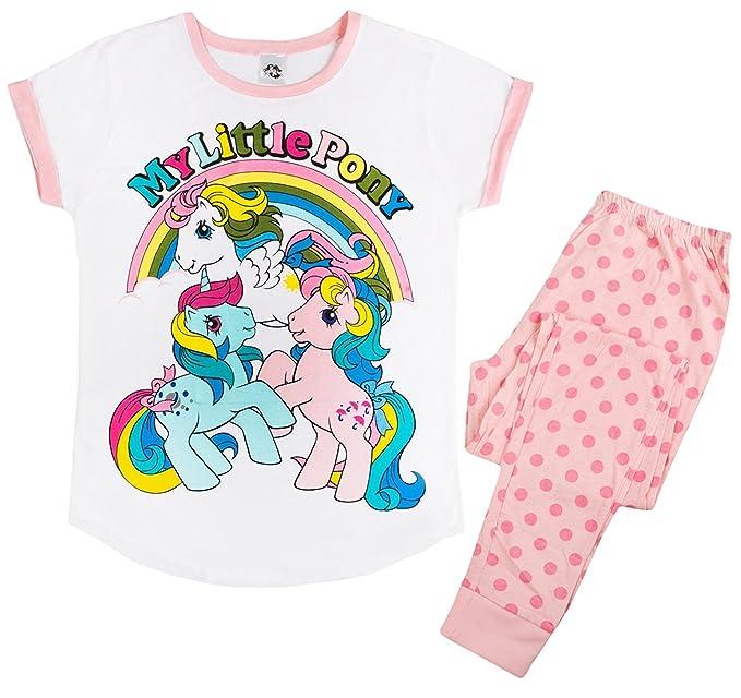 Lora Dora - Pijama - Manga Corta - para Mujer Vintage My Little Pony - 3