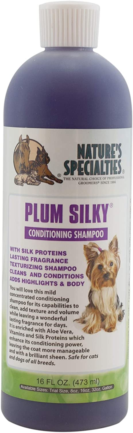 Nature's Specialties Plum Silky Dog Shampoo Conditioner for Pets, Dilutes Up To 24:1 Made in USA