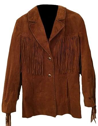 Classyak pour Homme Western Top Qualité en Daim Manteau avec