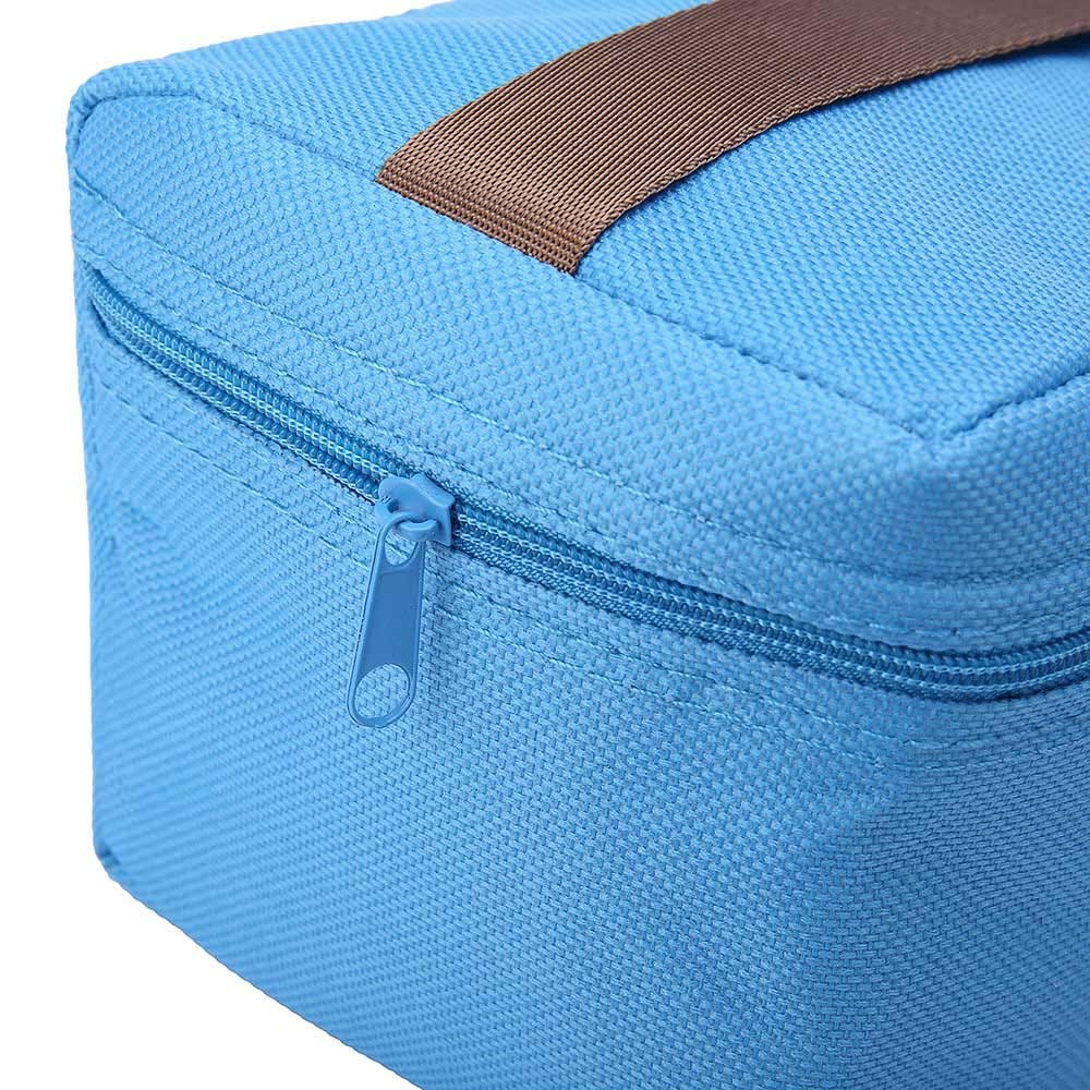 ♚Rendodon♚ Storage Bag, Household Storage, Foldable Lunch Box Bag, Lunch Picnic Storage Bag, Outdoor Portable Insulated Thermal Cooler Bento Lunch Box Picnic Storage Bag (Blue) by ♚Rendodon♚ (Image #6)