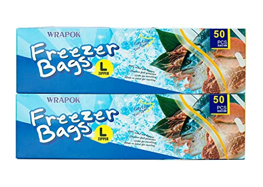 WRAPOK - Bolsa de almacenamiento para congelador, bolsas de ...