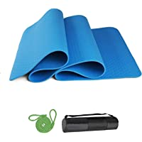 DONGTIAN Yoga Mat, Non Slip Fitness Mats, Thick Exercise Mat with Carry Strap for Yoga Pilates, and Gymnastics, Eco…