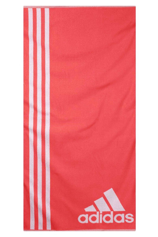 Adidas - Asciugamano, misura L, Unisex, Rot