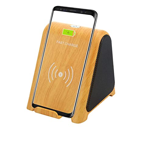 Wireless Charger With Bluetooth Speaker Tplisak 2 In 1 Audio Player 10 W 7 5 W 5w Fast Charging Stand Holder Compatible For Samsung
