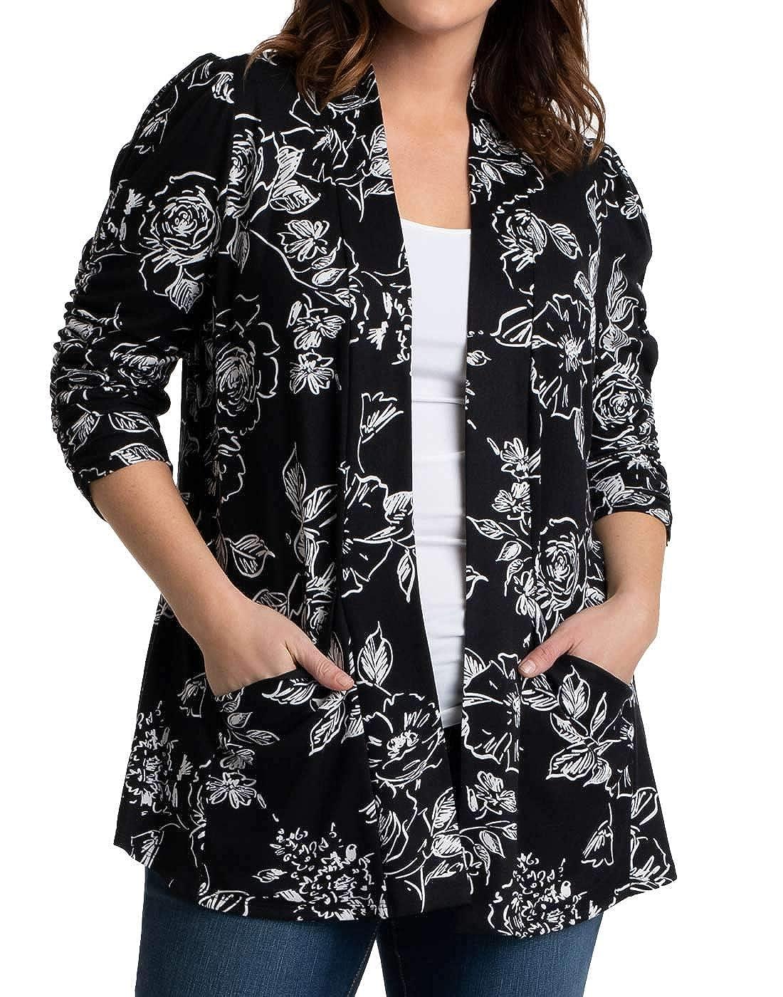 Kiyonna Womens Plus Size Aubrey Bellini Black Rose Noir
