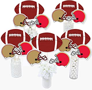 product image for Big Dot of Happiness Super Football Bowl - Sports Game Day Party Centerpiece Sticks - Table Toppers - Set of 15