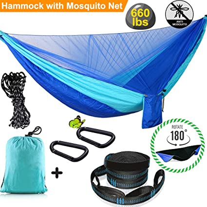 Tools Automatic Quick-opening And Convenient Carrying Retractable Anti-mosquito Hammock Outdoor Single Double Hammock Mosquito Net