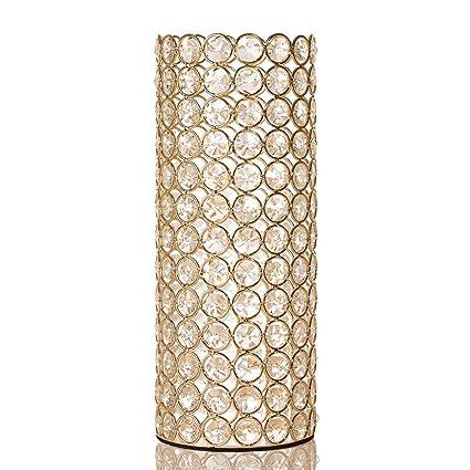 Amazon Vincigant Gold Crystal Cylinder Vase For Holiday House