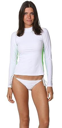 e75a37d108458 INGEAR Womens Long Sleeve Rashguard Swimwear Rash Guard Athletic Swimsuit  Top (Small