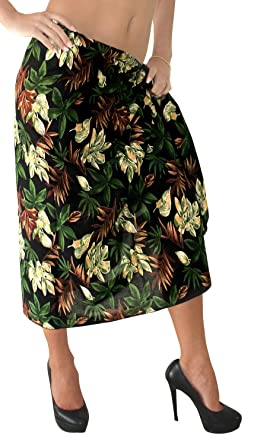 888c64b5a3 LA LEELA Swimsuit Cover-Up Sarong Beach Wrap Skirt Hawaiian Sarongs for Women  Plus Size Large Maxi BK at Amazon Women's Clothing store: