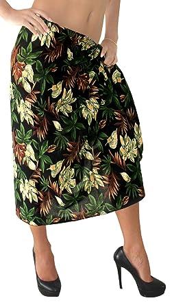 4aeff7e178 LA LEELA Swimsuit Cover-Up Sarong Beach Wrap Skirt Hawaiian Sarongs for  Women Plus Size Large Maxi BK at Amazon Women's Clothing store: