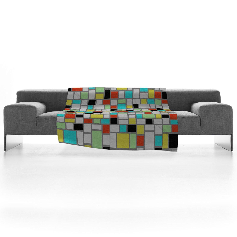 50 x 60 Deny Designs Jacqueline Maldonado Geo Square Fleece Throw Blanket