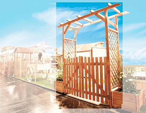 Pergola Bamberg con puerta B200 x T51 X H208 cm madera de pino impregnada: Amazon.es: Hogar